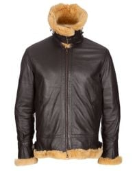 Mastermind Japan | Brown Rabbit Fur Flight Jacket for Men | Lyst