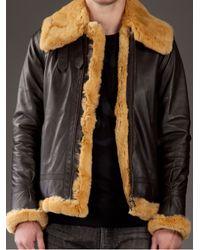 Mastermind Japan Brown Rabbit Fur Flight Jacket for men