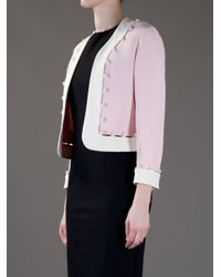 Moschino | Pink Open Front Jacket | Lyst
