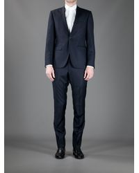 Mr Start - Blue Textured Wool Suit for Men - Lyst
