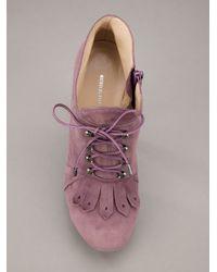Nicholas Kirkwood Purple Fringed Ankle Boot