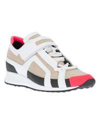 Pierre Hardy Natural Fluoruro Burlap Sneaker