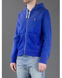 Polo Ralph Lauren Blue Logo Hoodie for men