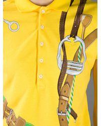 Ralph Lauren Yellow Printed Polo Shirt