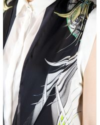 Roberto Cavalli Black Bow Oversized Blouse