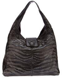 Roberto Cavalli   Black Tiger Striped Bag   Lyst