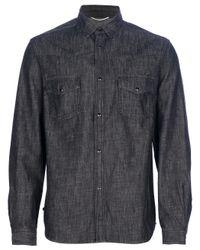 Saint Laurent | Gray Classic Denim Shirt for Men | Lyst