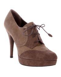 Stuart Weitzman Brown Lace-up Shoe Boot