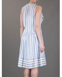 Vanessa Bruno - Blue Striped Dress - Lyst