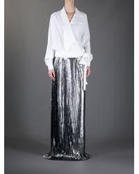 Viktor & Rolf Metallic Pleated Maxi Skirt