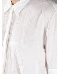 Acne Studios White Augustine Silk Blouse