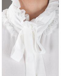 Acne Studios White Agatha Sleeveless Blouse