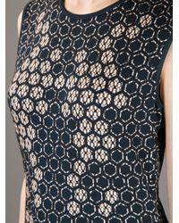 Alexander McQueen Black Honeycomb Pencil Dress