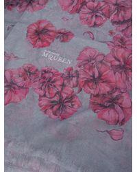 Alexander McQueen   Floral Scarf   Lyst