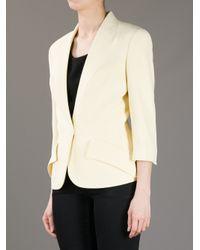 Alexander McQueen Yellow Leaf Crepe Basque Jacket