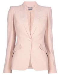 Alexander McQueen | Natural Fitted Blazer | Lyst