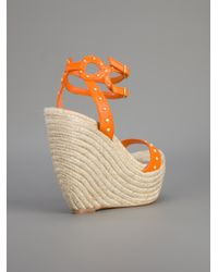 Alexander McQueen Orange Wedge Sandal