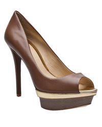 B Brian Atwood Brown Platform Shoe