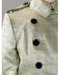 Burberry Metallic Vintage Gold Trench Coat