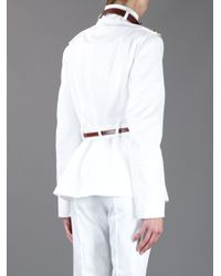 Burberry White Fawsleylt Jacket