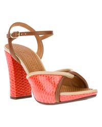 Chie Mihara Orange Caloria Sandal