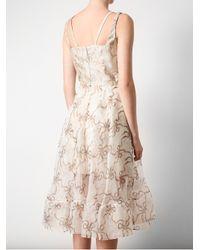 Christopher Kane Natural Bow Patterned Silk Dress