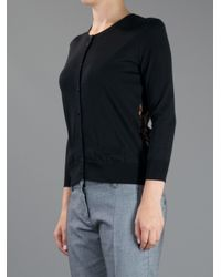 Dolce & Gabbana | Black Lace Panel Cardigan | Lyst