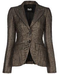Dolce & Gabbana | Gray Crease Effect Blazer | Lyst