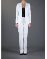 Dolce & Gabbana White Two Piece Suit