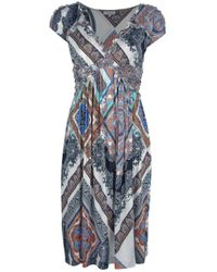 Etro - Multicolor Paisley Print Ruffle Dress - Lyst
