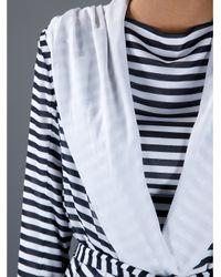 Gareth Pugh Black Striped Hooded Summer Coat