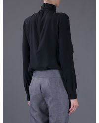 Givenchy Black Pussy Bow Blouse