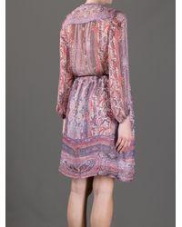 Isabel Marant Purple Sofia Paisley Dress