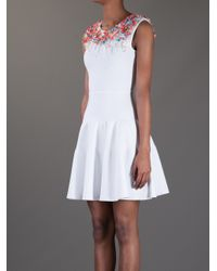 Issa - White Sequin Embellished Sleeveless Dress - Lyst