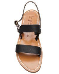 K. Jacques Black 'barigoule' Sandals
