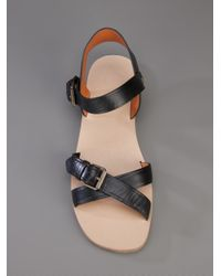 Marc By Marc Jacobs Black Buckle Strap Sandal