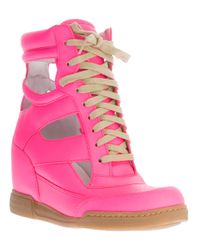 Marc By Marc Jacobs Pink Cutout Wedge Sneaker