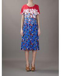 Marc Jacobs Multicolor Belted Floral Print Dress
