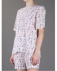 Markus Lupfer Pink Diamond Ring Print T-Shirt