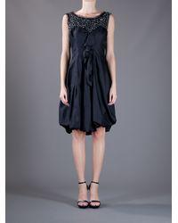 Nina Ricci - Black Sleeveless Flared Dress - Lyst