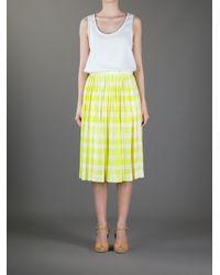 Paul Smith Yellow Checked Skirt
