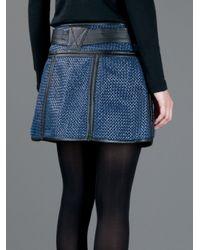Proenza Schouler - Blue Woven Mini Skirt - Lyst