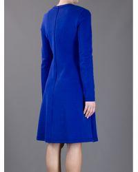 Proenza Schouler Blue A-line Soft Pleated Dress