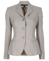 Ralph Lauren Black Label   Gray Structured Jacket   Lyst