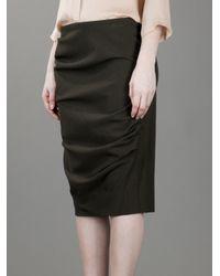 Ralph Lauren Black Label Green Pencil Skirt