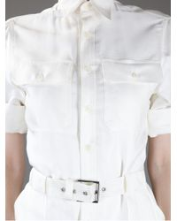 Ralph Lauren Black Label White Shirt Dress