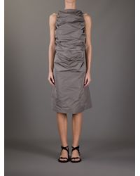 Rick Owens Gray Tube Tunic Dress