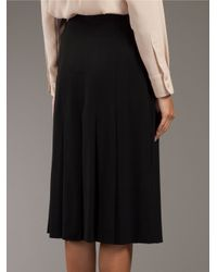 Saint Laurent Black Pleated Skirt