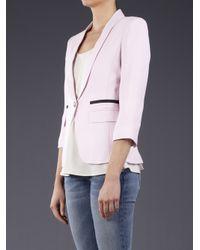 Smythe Pink One Button Shawl Blazer