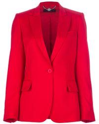 Stella McCartney Red Single Button Blazer